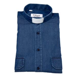 Prästskjorta denim jeansskjorta Priest shirt